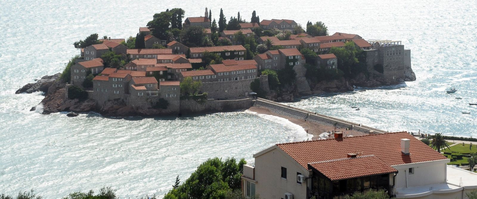 PHOTO: The luxurious Adriatic resort of Sveti Stefan is seen in this photo, July 9, 2014.