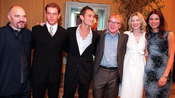 "PHOTO: The cast of ""The Talented Mr. Ripley"" pose at the films premiere in Los Angeles, Calif., Dec. 12, 1999."