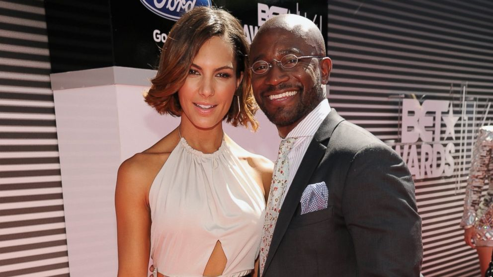 PHOTO: Actor Taye Diggs right, and guest attend the BET AWARDS 14 at Nokia Theatre L.A. LIVE on June 29, 2014 in Los Angeles, Calif.