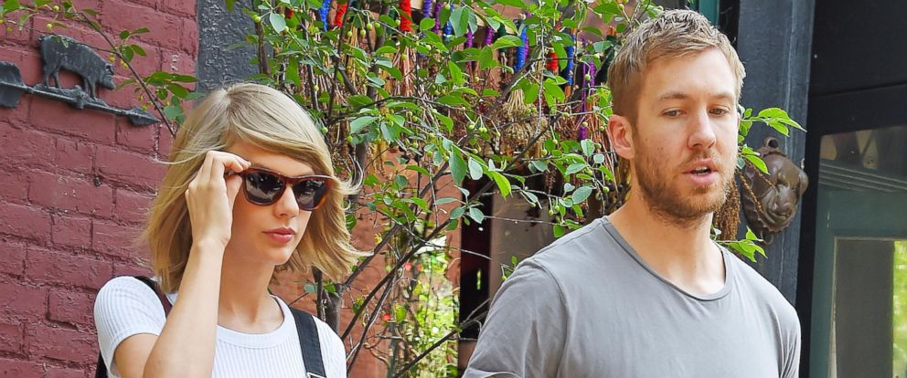 PHOTO: Taylor Swift and Calvin Harris get lunch at the Spotted Pig, May 28, 2015, in New York.