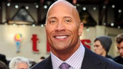 The Rock Makes a Dapper Movie Premiere Appearance
