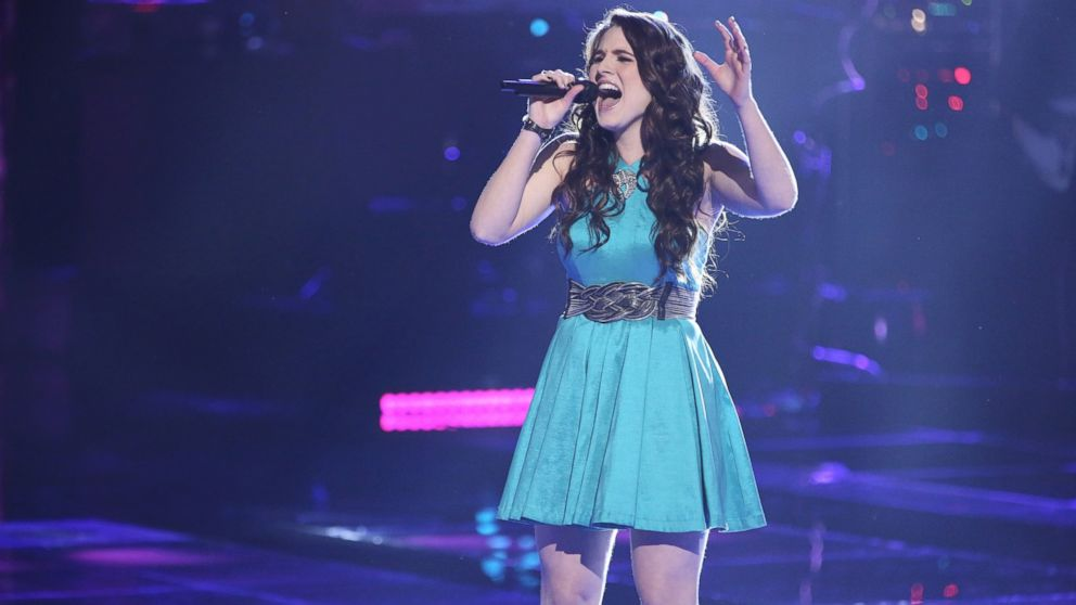 "PHOTO: Audra McLaughlin on ""The Voice"", April 8, 2014."