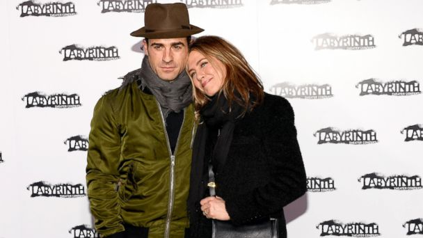 PHOTO: Justin Theroux and Jennifer Aniston attend the Labyrinth Theater Companys Celebrity Charades Gala 2015, Nov. 16, 2015, in New York City.