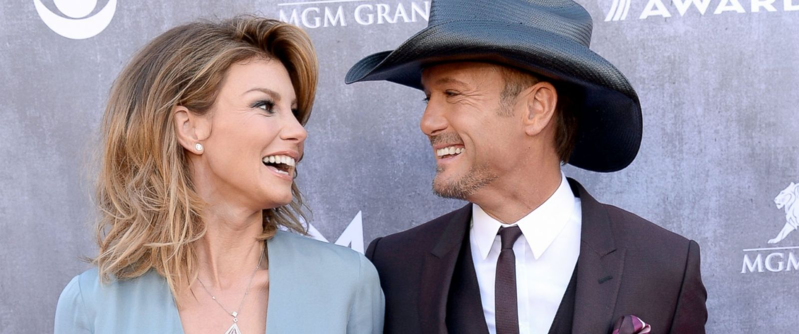 PHOTO: Faith Hill and Tim McGraw attend the 49th Annual Academy of Country Music Awards at the MGM Grand Garden Arena, April 6, 2014, in Las Vegas.