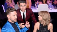 Nick Jonas Chats Up Justin Timberlake and Taylor Swift