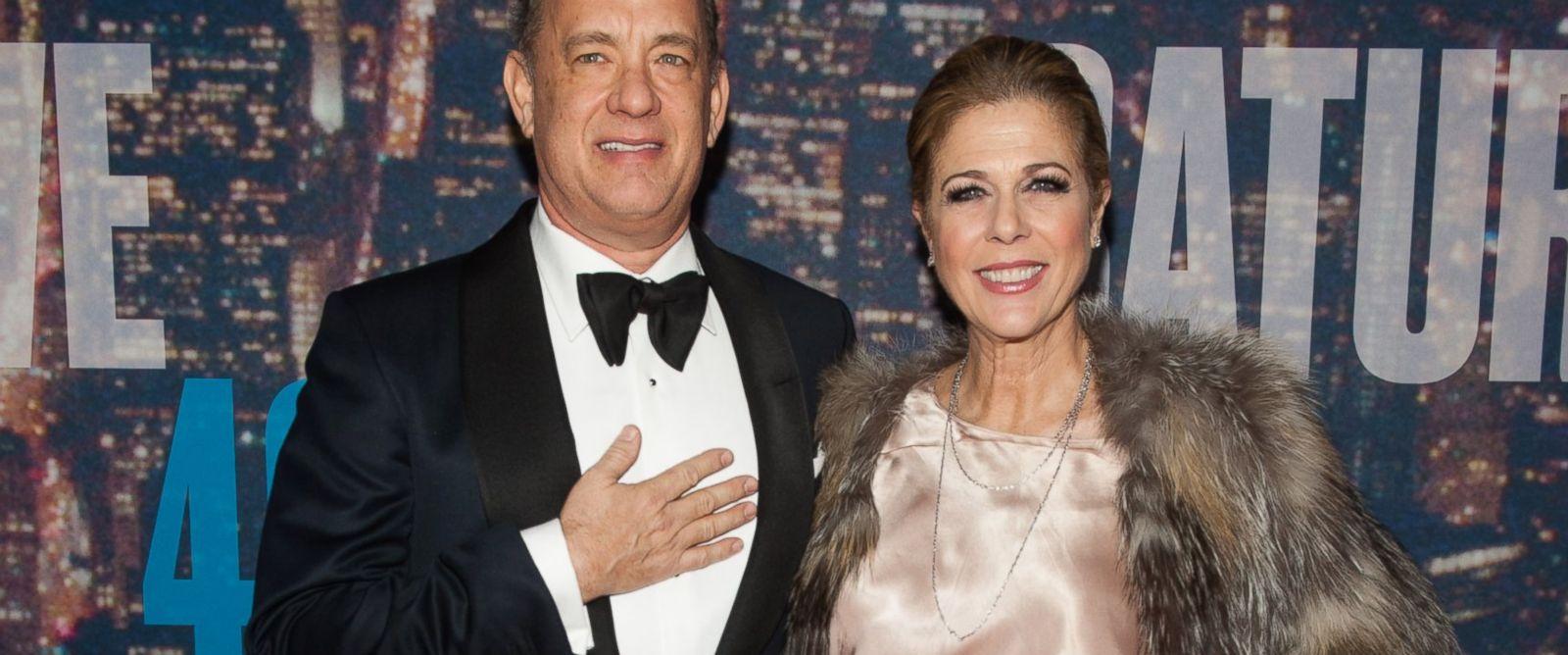 PHOTO: Tom Hanks and Rita Wilson attend the SNL 40th Anniversary Celebration at Rockefeller Plaza, Feb. 15, 2015, in New York.