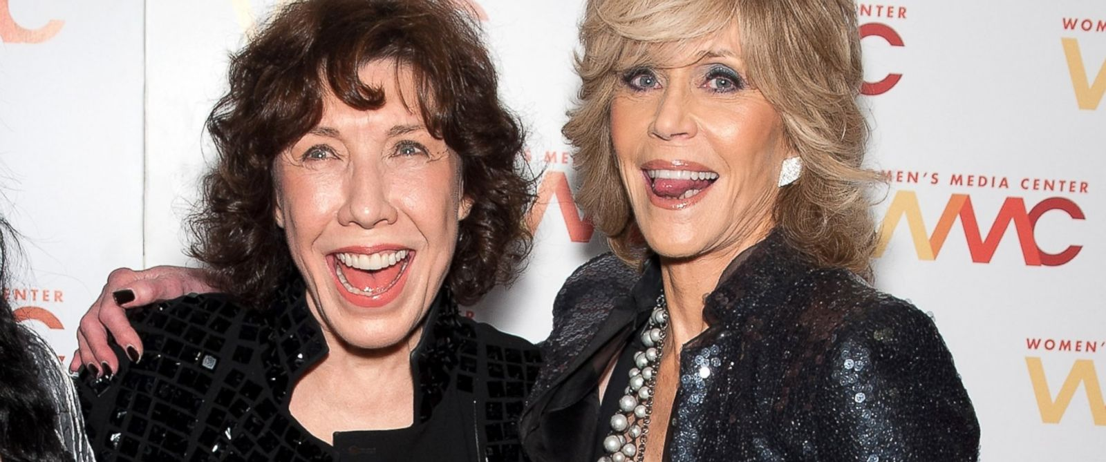 PHOTO: Lily Tomlin and Jane Fonda attend the 2013 Womens Media Awards at 583 Park Avenue, Oct. 8, 2013, in New York City.