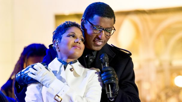 "PHOTO: Singers Toni Braxton and Kenneth Brian ""Babyface"" Edmonds attend the 81st annual Rockefeller Center Christmas Tree Lighting Ceremony, Dec. 3, 2013 in New York City."