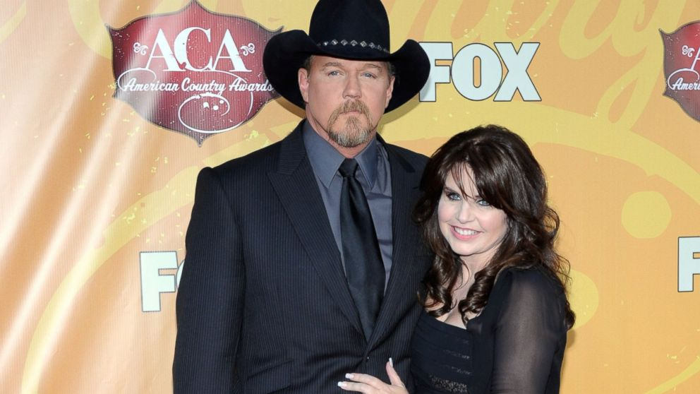 PHOTO: Singer Trace Adkins, left, and wife Rhonda Adkins arrive at the American Country Awards 2010 held at the MGM Grand Garden Arena in this Dec. 6, 2010, file photo.
