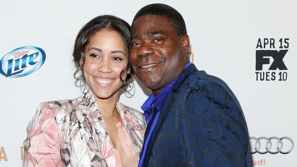"PHOTO: Megan Wollover and actor/comedian Tracy Morgan attend the FX Networks Upfront screening of ""Fargo"" at SVA Theater on April 9, 2014, in New York City."