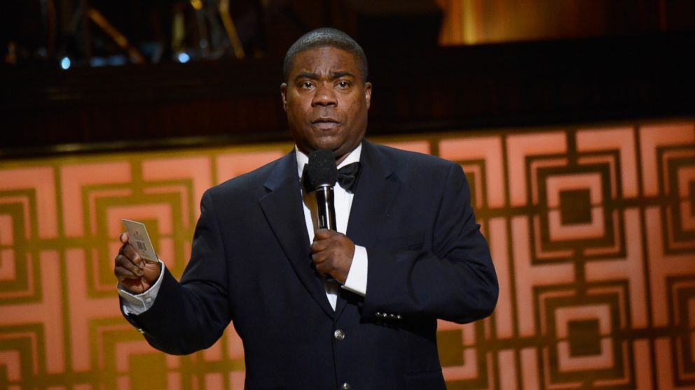 """PHOTO: Comedian Tracy Morgan speaks onstage at Spike TVs """"Don Rickles: One Night Only,"""" in this file photo, May 6, 2014, in New York."""
