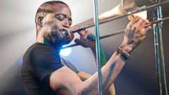 PHOTO: Troy Andrews, also known as Trombone Shorty, performs live during a concert in Berlin
