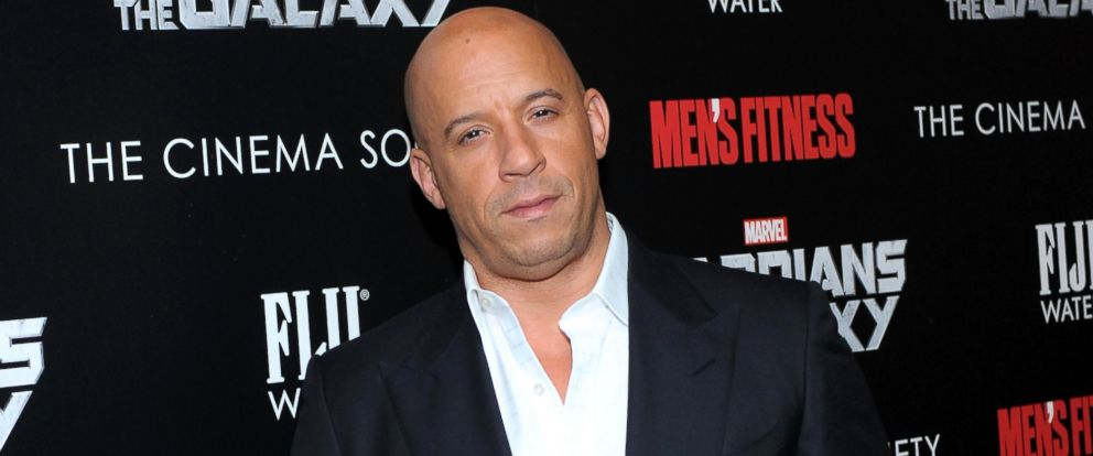 "PHOTO: Vin Diesel attends The Cinema Society with Mens Fitness & FIJI Water host a screening of ""Guardians of the Galaxy,"" July 29, 2014, in New York."