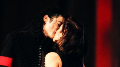 PHOTO: Michael Jackson and Lisa Marie Presley during 1994 MTV Video Music Awards at Radio City Music Hall in New York City.