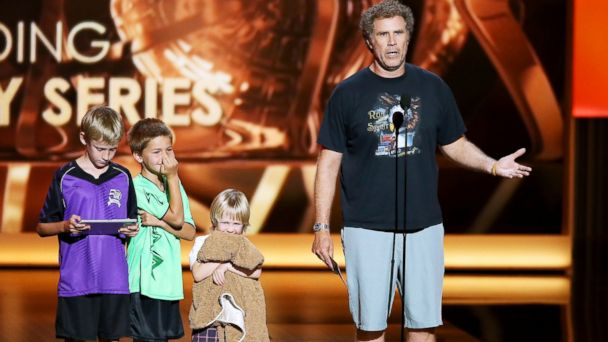 PHOTO: Will Farrell speaks onstage during the 65th Annual Primetime Emmy Awards held at Nokia Theatre L.A. Live, Sept. 22, 2013, in Los Angeles.