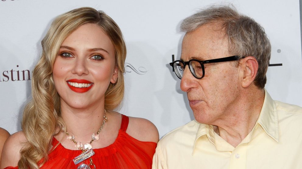 "PHOTO: Scarlett Johansson, left, and Woody Allen, right, arrive at the premiere of ""Vicky Cristina Barcelona"" on Aug. 4, 2008 in Westwood, Calif."