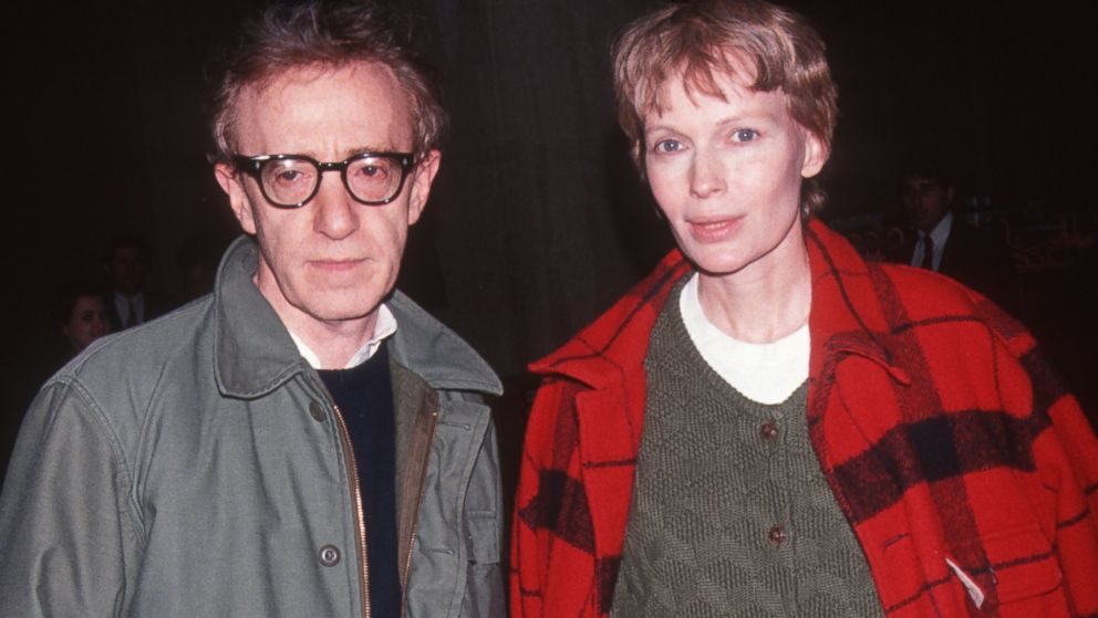 "PHOTO: Woody Allen and actress Mia Farrow attend the party for ""Howards End"" at Tavern"