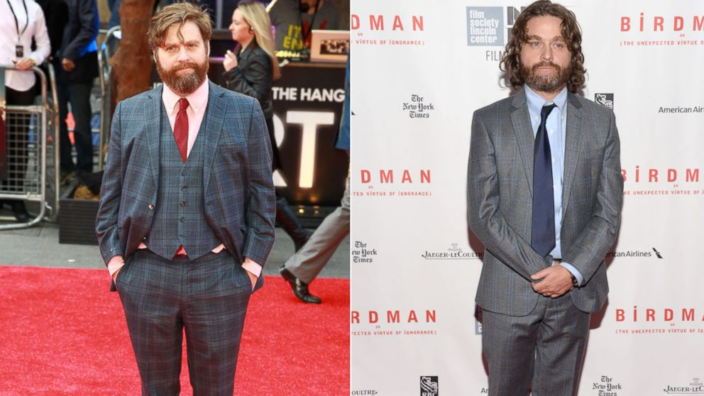 From left  Zach Galifianakis in London  May 22  2013  and Galifianakis    Zach Galifianakis Weight Loss 2013
