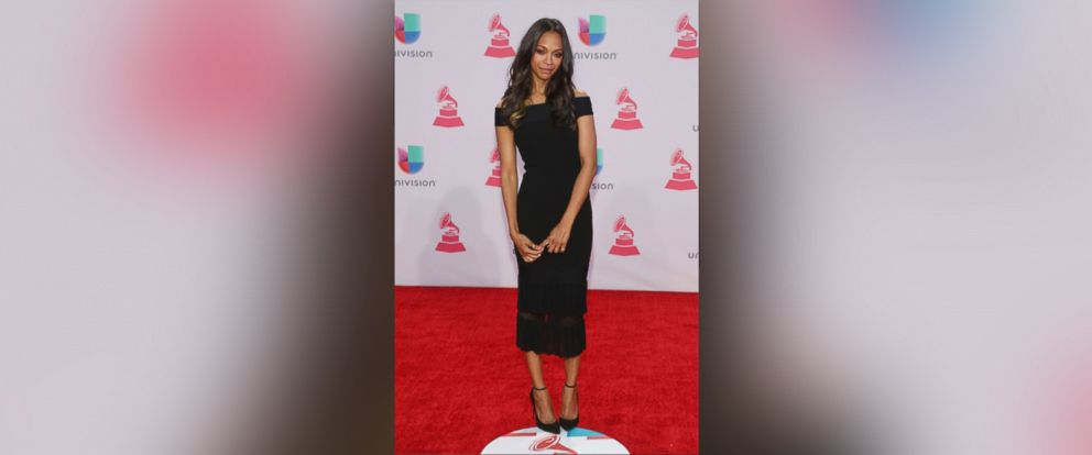 PHOTO: Zoe Saldana attends the 16th Annual Latin GRAMMY Awards at the MGM Grand Arena on Nov. 19, 2015 in Las Vegas.