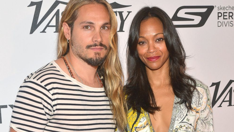 Marco Perego with cool, Wife Zoë Saldana
