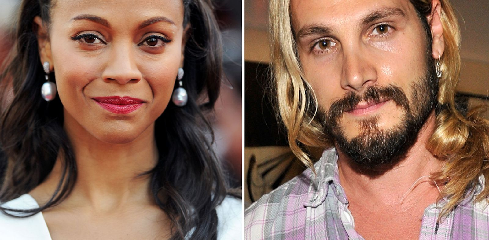PHOTO: Zoe Saldana, left, and Marco Perego, were married in a secret wedding.