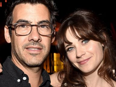 PHOTO: Jacob Pechenik and Zooey Deschanel pose at the after party for the premiere of Roadside Attractions The Skeleton Twins at The Argyle, Sept. 10, 2014, in Los Angeles.