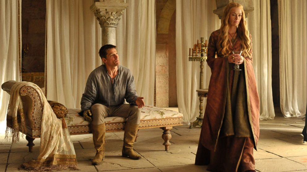 "PHOTO: Nikolaj Coster-Waldau and Lena Headey as Jamie and Cersei Lannister in season 4 of ""Game of Thrones."""