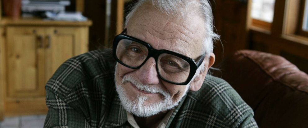 "PHOTO: George Romero poses for a photograph while talking about his film ""Diary of the Dead at the Sundance Film Festival in Park City, Utah, Jan. 21, 2008."
