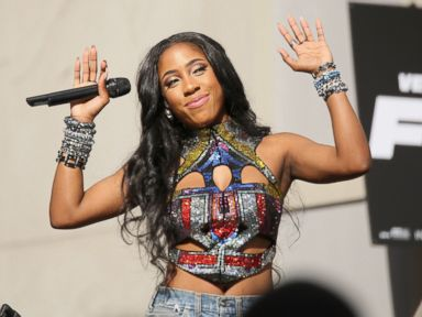 PHOTO: Recording artist Sevyn Streeter performs onstage during an exclusive Furious 7 concert hosted by REVOLT Live at Hollywood Studio at Hollywood and Highland on April 1, 2015