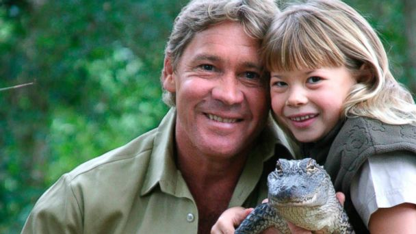 PHOTO: Steve Irwin is seen with his daughter, Bindi Irwin, and a 3-year-old alligator called 'Russ' at Australia Zoo in this June 25, 2005 file photo.