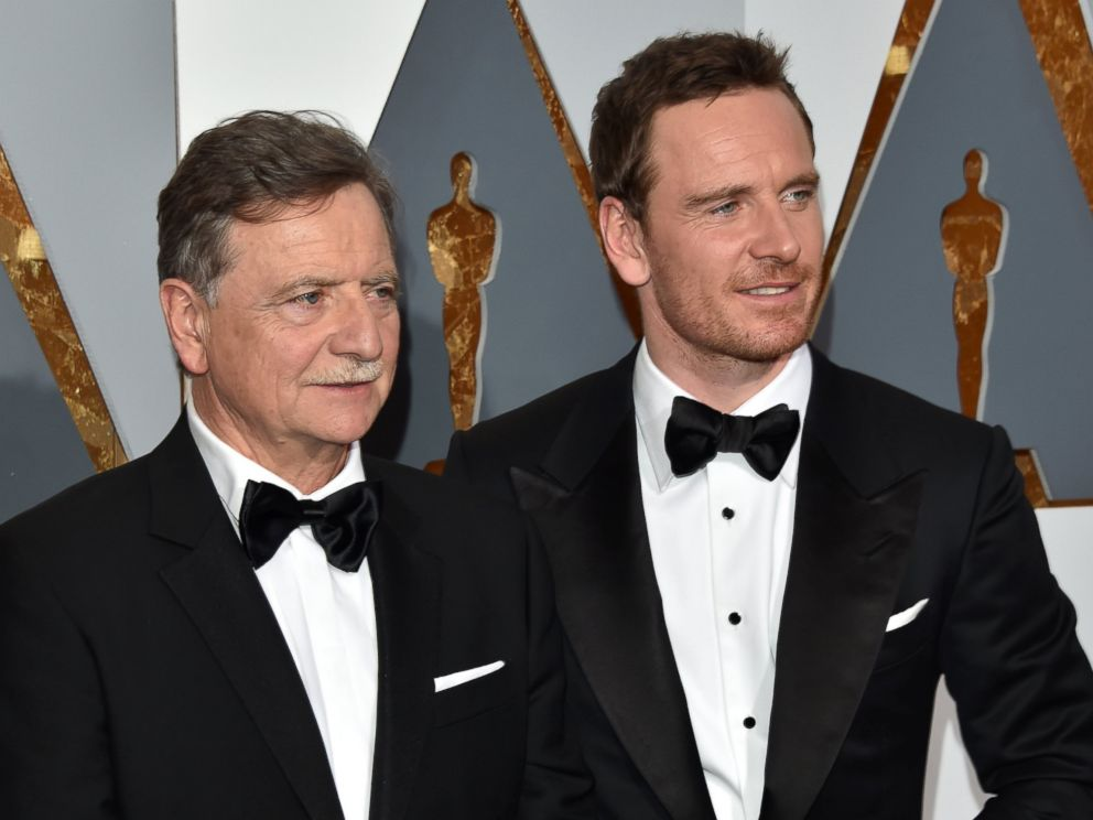 PHOTO: Michael Fassbender brought his father, Joseph, to the 88th Annual Academy Awards, Feb. 28, 2016 in Hollywood, California.