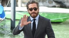 Jake Gyllenhaal Arrives in Venice
