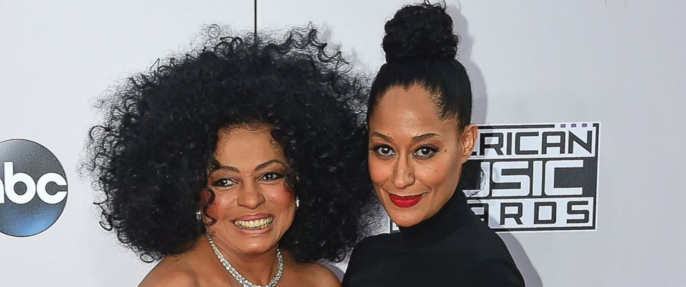 PHOTO Diana Ross And Tracee Ellis Attend The 2014 American Music Awards At Nokia