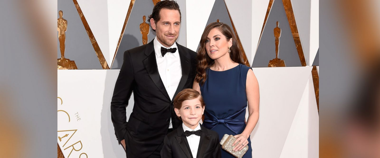 PHOTO: Jason Tremblay, Jacob Tremblay, and Christina Candia Tremblay attend the 88th Annual Academy Awards, Feb. 28, 2016 in Hollywood, California.