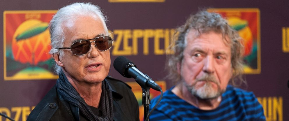 PHOTO: Jimmy Page and Robert Plant attend the Led Zeppelin: Celebration Day press conference at the Museum of Modern Art, Oct. 9, 2012, in New York.