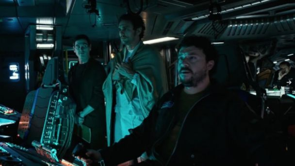 PHOTO: Billy Crudup, James Franco and Danny McBride in Alien: Covenant.