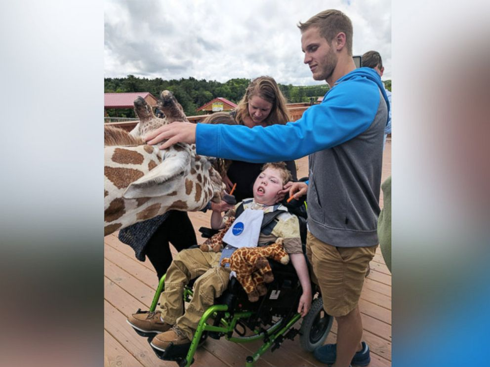 April the Giraffe really can do just about anything, even grant wishes!