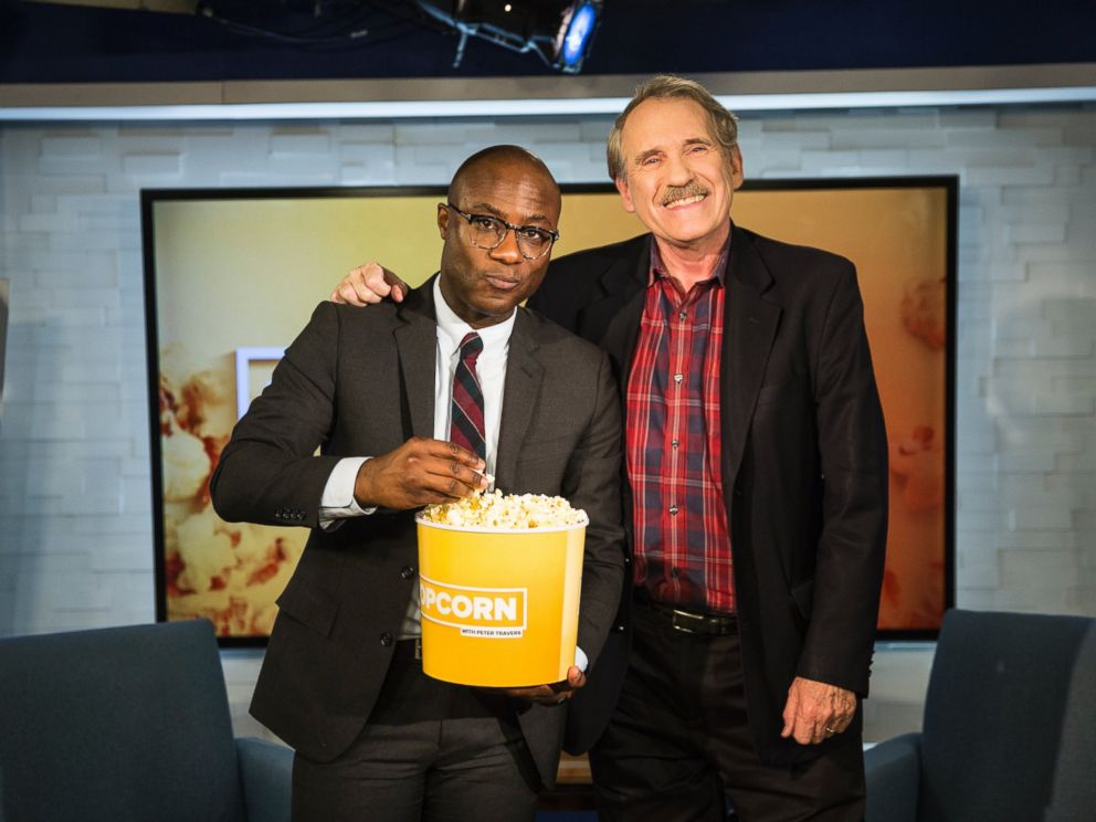 PHOTO: Barry Jenkins and Peter Travers at the ABC News studios in New York City, Nov. 15, 2016.
