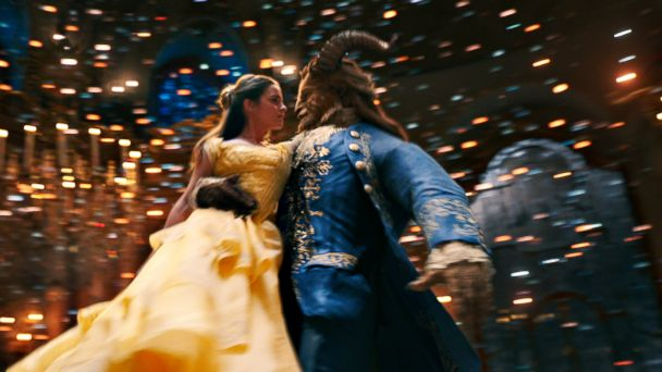 PHOTO: Emma Watson as Belle and Dan Stevens as the Beast in a scene from