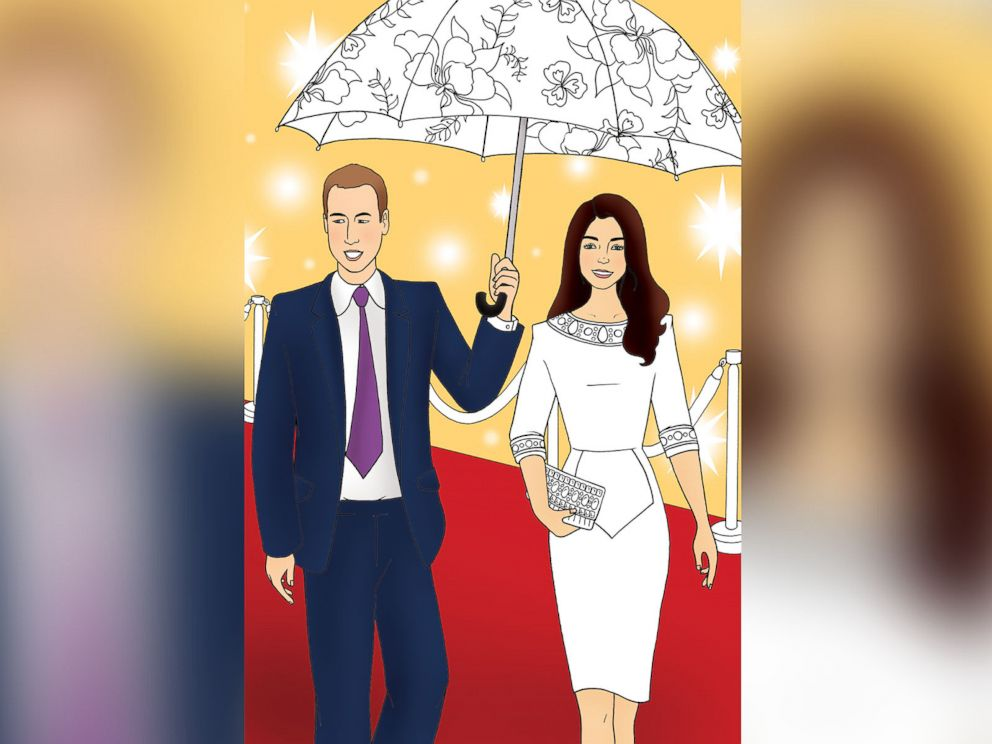PHOTO: Colour in Kate is a new coloring book featuring Princess Kate available at the Kensington Palace gift shop.