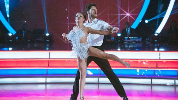PHOTO: Laurie Hernandez and her partner Valentin Chmerkovskiy perform on
