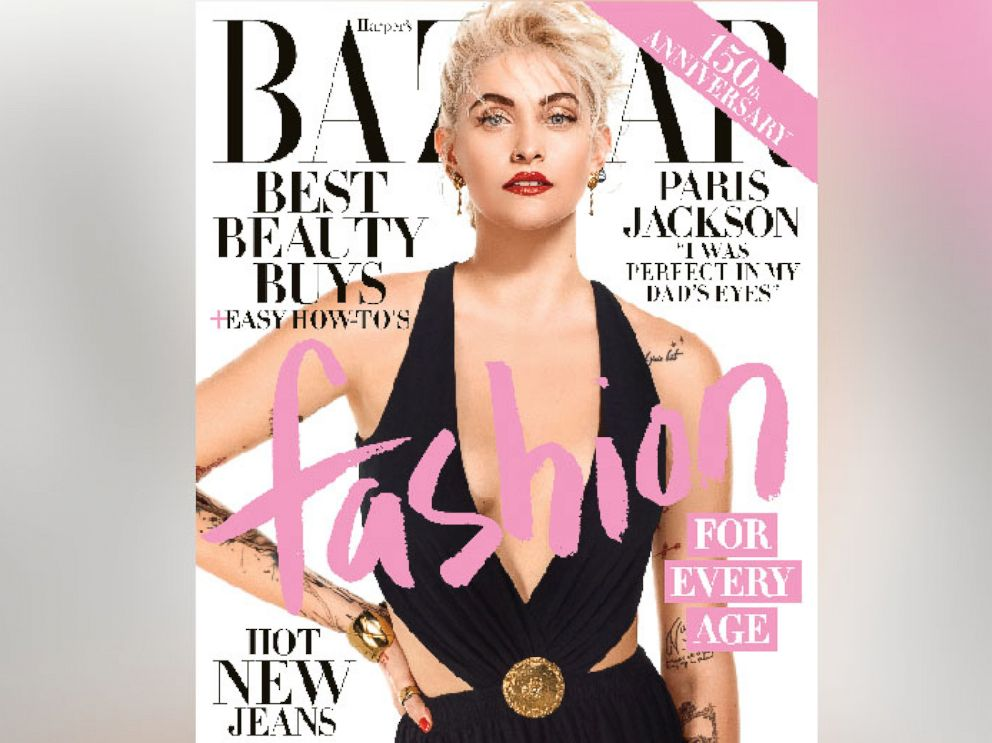 PHOTO: Paris Jackson appears on the April 2017 cover of Harpers Bazaar.