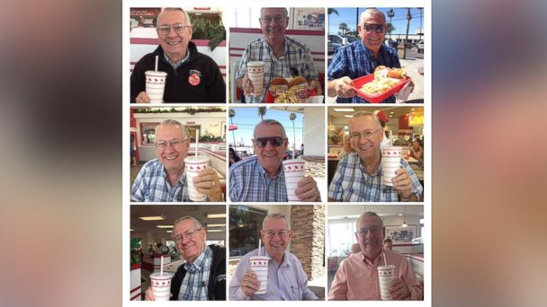 PHOTO: The grandparents of Heather Daniels, 18, of Orange, California, text the teenager and her uncle a photo every time they eat at an In-N-Out Burger restaurant.