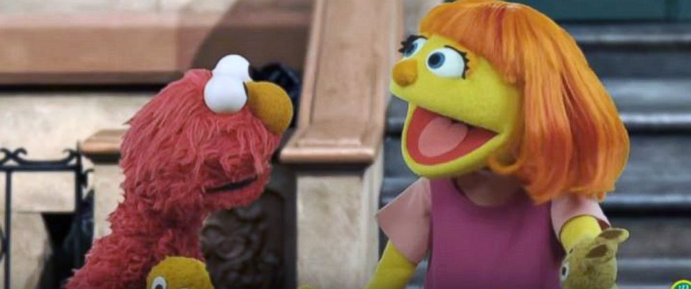 "PHOTO: ""Sesame Street"" introduces the newest muppet, Julia, who has autism."