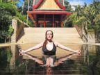 Lindsay Lohan relaxes in Phuket