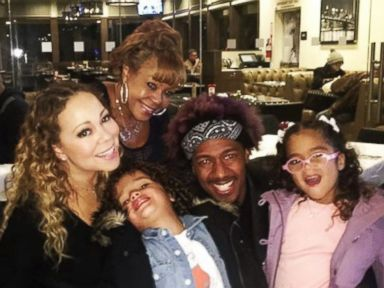 Mariah Carey and Nick Cannon Have Family Dinner