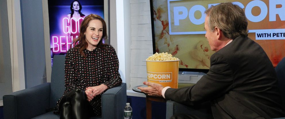"PHOTO: Michelle Dockery stopped by ABC News ""Popcorn With Peter Travers."""