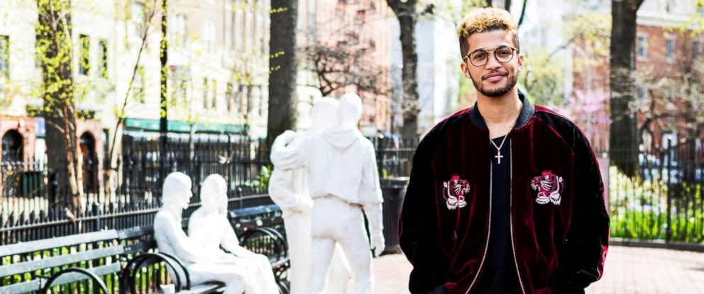 PHOTO: Jordan Fisher at the Stonewall National Monument in New York.