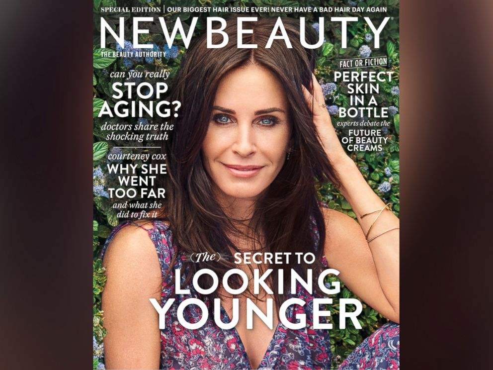 PHOTO: Actress Courteney Cox on the cover of New Beauty.