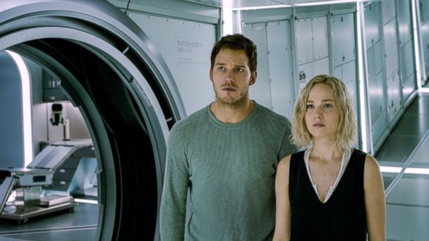 PHOTO: Chris Pratt and Jennifer Lawrence in the movie,